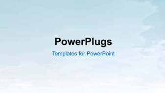 PowerPoint Template - Natural sky background